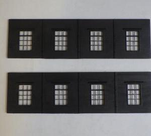 機関庫の窓桟と庫内の地面製作