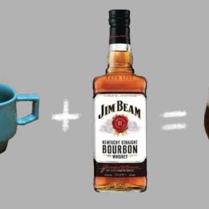 寒い夜はコーヒー+ウイスキーでアイリッシュコーヒー【ジムビーム】