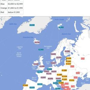 【画像】西欧と東欧の格差、いくらなんでもやばすぎるwwww