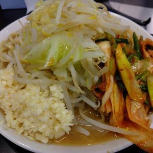 ラーメン鬼首「豚ラーメン300g+ネギキムチ+生卵」を実食