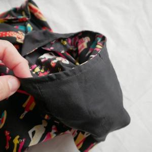 袖ぐりも袋縫いがマイブーム