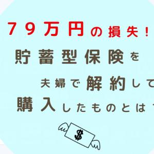 79万円の損失!!夫婦で貯蓄型保険を解約して、購入したものとは?