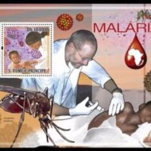 切手に描かれた病-12.マラリア-
