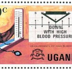 切手に描かれた病-11.高血圧症-