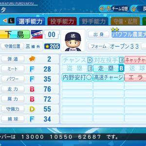 【架空】下島仁司 (三塁手) パワプロ2020