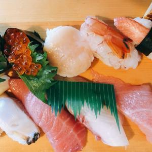 babaの誕生日で寿司を食べに行く