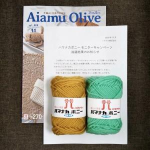 当選0011*ハマナカボニー 毛糸 モニター