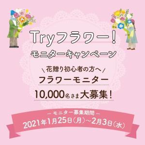 懸賞情報*お花TRYフラワーモニター 〆2/3