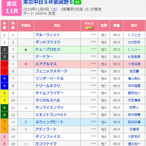 第24回東京中日スポ杯武蔵野ステークス~最終結論~