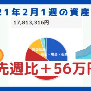 【資産公開】1週間で50万円増加!仮想通貨も大暴騰!【2021年2月1週目の振り返り】