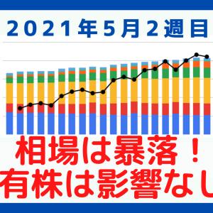 【資産公開】株価暴落も保有銘柄は影響なし!高配当株は強い!【2021年5月2週目振り返り】