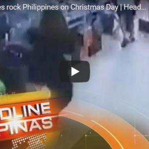 10代ティーンとフィリピン警官がクリスマスイブに○○!&地震映像