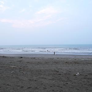 2019/07/28 鹿島ビーチ(牧之原市) 波無くなってました