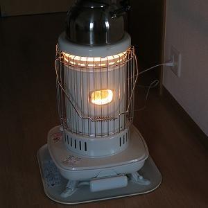 石油ストーブを使って光熱費低減