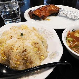 永楽星川店のチャーハン・鶏もも・杏仁豆腐