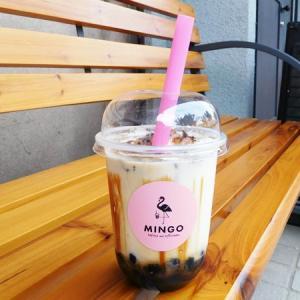 「MINGO TEA STAND」の焦がし黒糖タピオカラテ