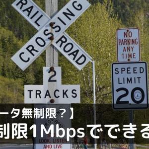 「速度制限1Mbps」の速度でできることの比較|データ無制限として使えるのか?