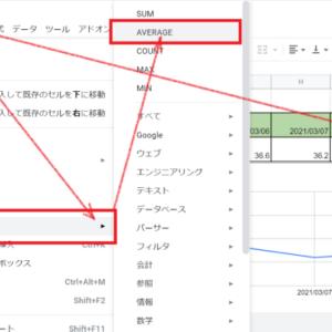 Googleスプレッドシート【関数】「SUM」と「AVERAGE」の使い方