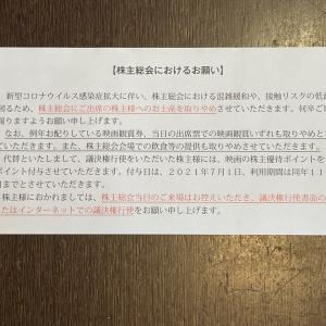 松竹の議決権行使で株主優待ポイント20ポイントもらえます(*・ω・)ノ