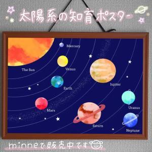 宇宙・太陽系の知育ポスター作りました