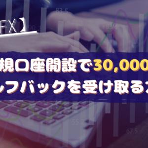【DMM FX】新規口座開設で30,000円セルフバックを受け取る方法