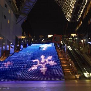 京都駅ビル 光のファンタジー2020 ④ 《大階段ほか》