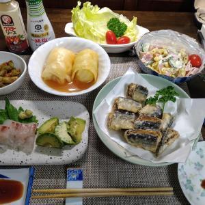 6.18 ウスターソースで食べる「揚げサンマ」の晩酌セット!