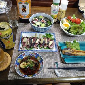 7.27 家庭菜園と晩酌セット!