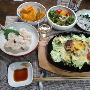 8.04 「焼きチーズ ハンバーグ」晩酌セット!