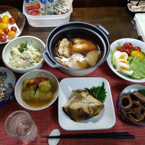 9.21 「干し銀ガレイ塩焼き」の晩酌セット!