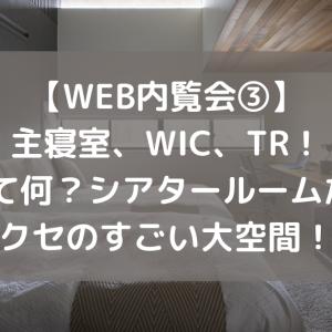 【WEB内覧会③】主寝室、WIC、TR!TRって何?シアタールームだよ!クセのすごい大空間!