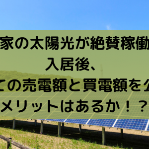 我が家の太陽光が絶賛稼働中!入居後、初めての売電額と買電額を公開!メリットはあるか!?
