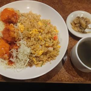 チャーハン&チキンチリ定食(バーミヤン坂戸泉店/埼玉県坂戸市)