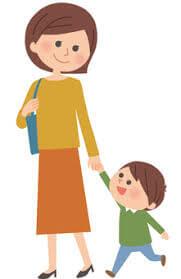 幼稚園へ孫のお迎え
