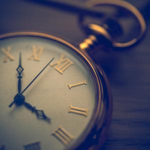 過ぎ去る時間の経過を考えて
