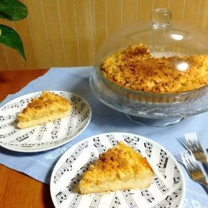 【レシピで読むイタリア語】友人直伝りんごのクランブル・ケーキ