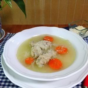 【1度に2品出来る時短レシピ】圧力鍋で柔らか骨付きチキンのスープ