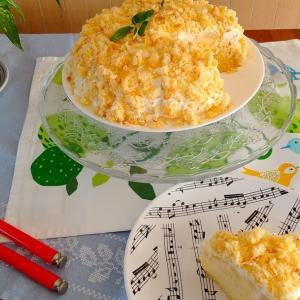ミモザの花のケーキ【作り方】