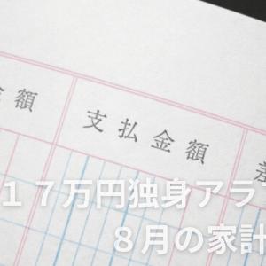 手取り17万円独身アラフォー 8月の家計簿公開