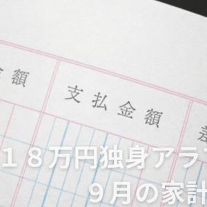 手取り18万円独身アラフォー 9月の家計簿公開