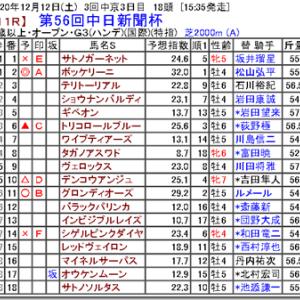 【競馬予想】第56回中日新聞杯