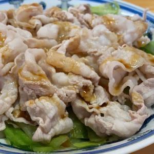 豚バラ肉とレタスのサッとゆで