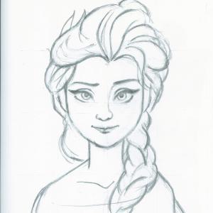 「アナと雪の女王」 エルサ模写