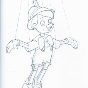 再び ピノキオ模写