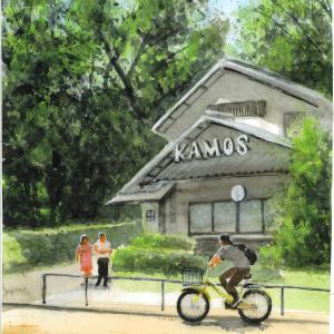 日比谷公園 KAMOSをスケッチ