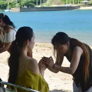 竹生島から強烈な浄化をいただいてます。。着物コスプレ美容師@mika