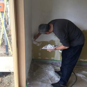 【長瀞の家2019】壁漆喰塗りの自主施工