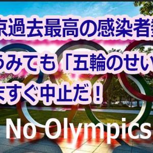【'21/07/28】東京・陽性者2848人!これでも『安心・安全』だというのか?