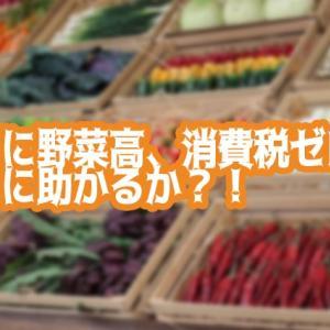 【'21/09/27】物価高に野菜高、消費税ゼロだとどんなに嬉しいか?