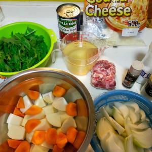 野菜と豚の煮込み料理、、、